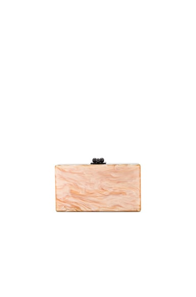 Edie Parker Jean Color Block Clutch in Caramel