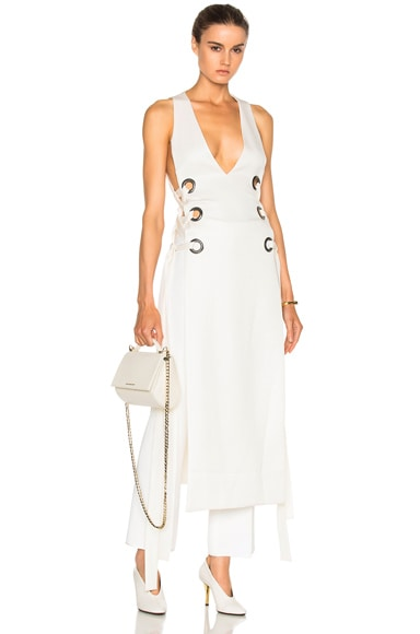 Ellery Utopian V Neck Dress in Ivory