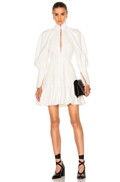 Ellery Butler Voluminous Sleeve Dress in Ivory