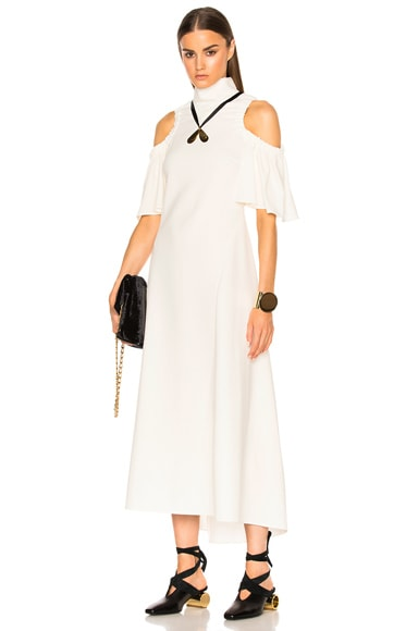 Ellery Deity Dress in Black & Ivory