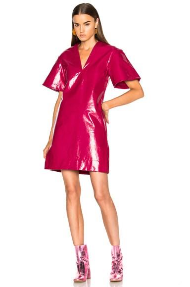 Ellery Clockwork Dress in Raspberry