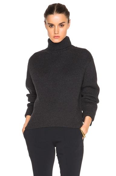 Ellery Mia High Collar Sweater in Charcoal