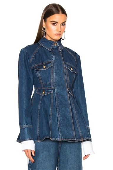 Ellery Pro Protest Jacket in Mid Blue