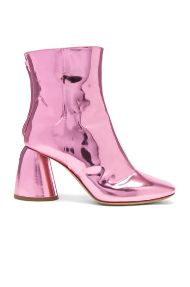 Ellery Patent Leather Jezebels Boots in Pink