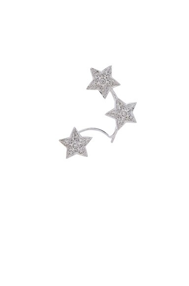 Elise Dray Whispers Stars Single Earring in White Gold & Grey Diamonds