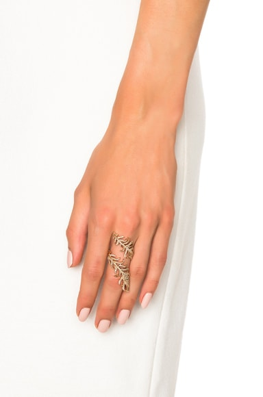 Swirl Feather Ring