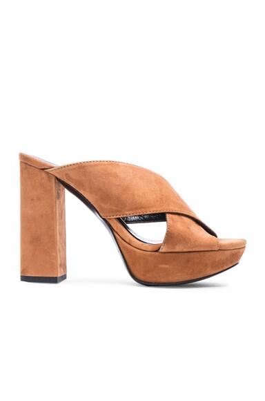 Marilyn Suede Mule Heels