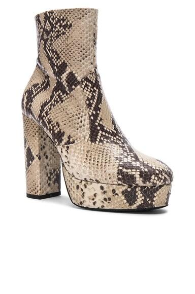 Snakeskin Platform Booties