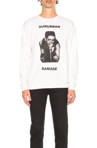 Enfants Riches Deprimes Suburban Damage Sweatshirt in White