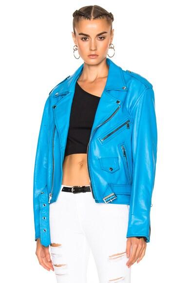 Enfants Riches Deprimes Leather Jacket in Blue