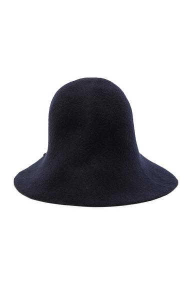 Engineered Garments Snap Felt Hat in Navy
