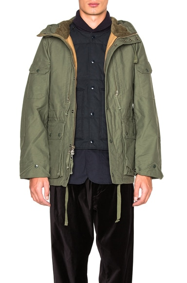 Engineered Garments Double Cloth Field Jacket in Olive