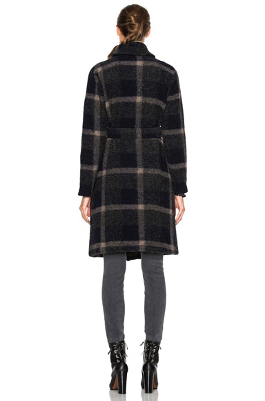 Wool Knit Plaid Robe