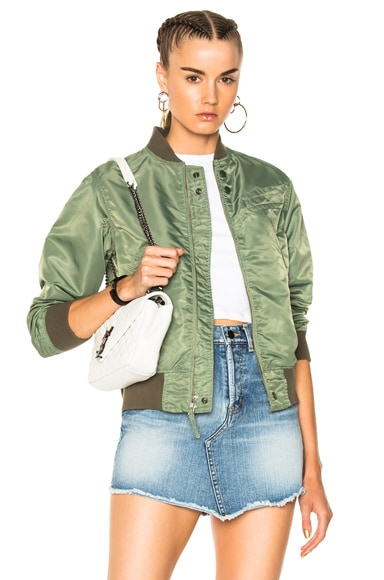 Sateen Aviator Jacket