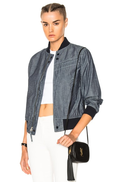 Chambray Aviator Jacket