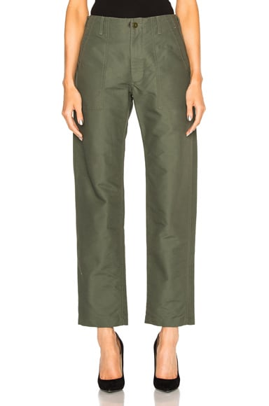 Engineered Garments Double Cloth Fatigue Pants in Olive