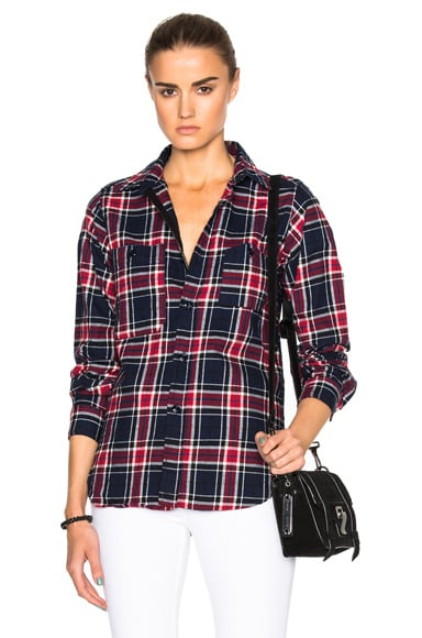 Big Plaid Flannel Work Shirt