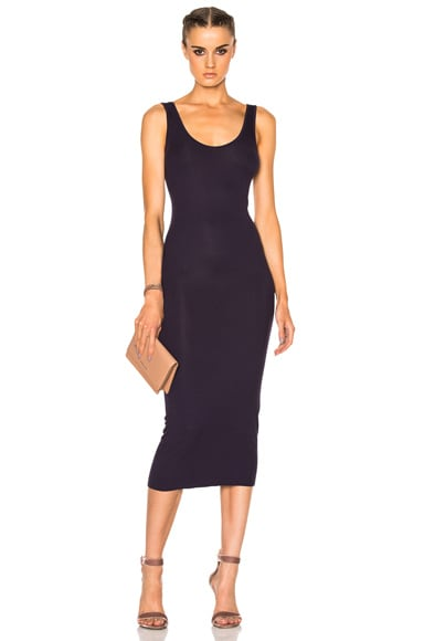 Enza Costa Rib Tank Dress in Night Shade