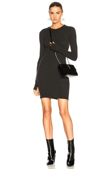 Cashmere Cuffed Sleeve Dress