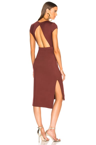 Jersey Open Back Midi Dress