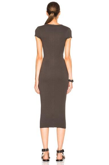 Rib Cap Sleeve Dress