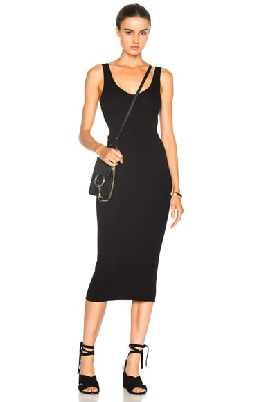 Enza Costa Rib Tank Dress in Nuit