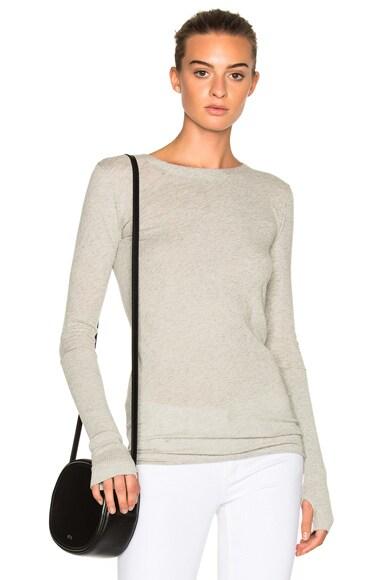 Cashmere Cuffed Crew Sweater
