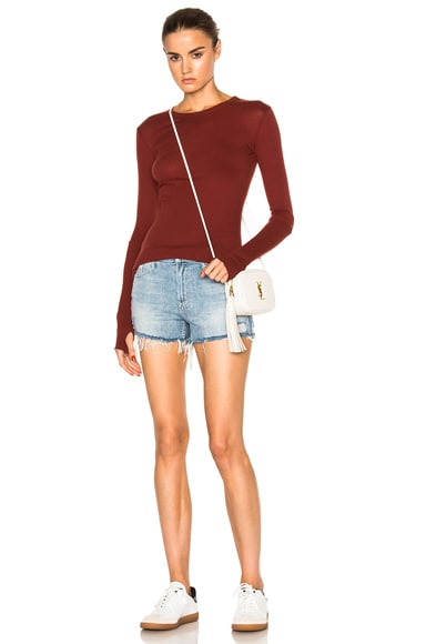 Cashmere Cuffed Crew Sweater
