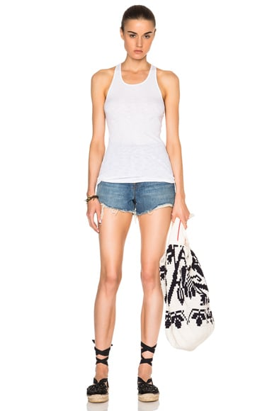 Rib Fitted Racer Tank Top
