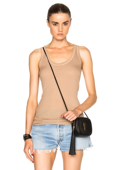 Enza Costa Rib Fitted Bold Top in Mojave