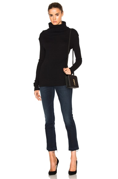 Cashmere Rib Turtleneck Sweater
