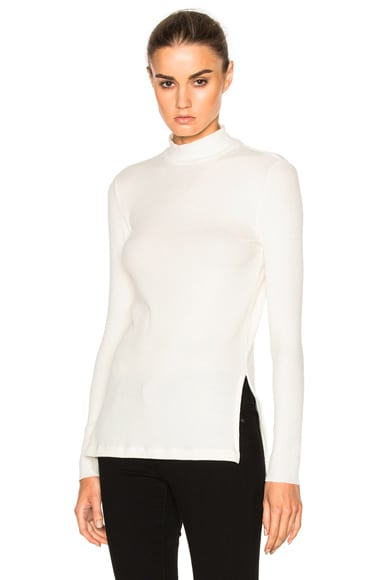 Long Sleeve Mock Neck Tee