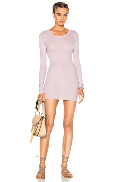 Rib Long Sleeve Tunic Top