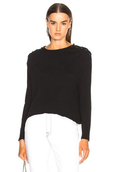 Cashmere Shoulder Lace Up Top