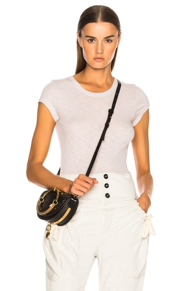 Rib Fitted Cap Sleeve Tee