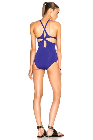 Ephemera Twist Back Swimsuit in Atlantique