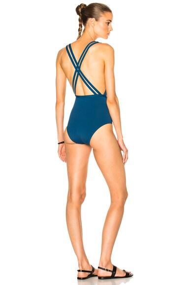 Ephemera Crossed Swimsuit in Pacifique