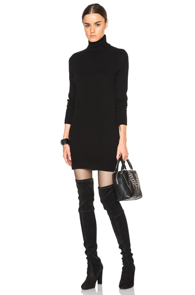 Equipment Cashmere Oscar Knit Dress in Black
