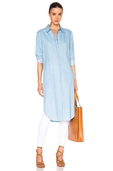 Equipment Pascal Tunic Dress in Sky Blue