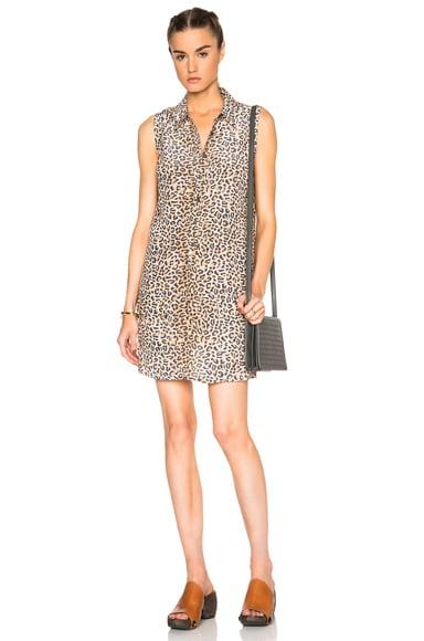 Equipment Lucida Leopard Dress in Nude Multi