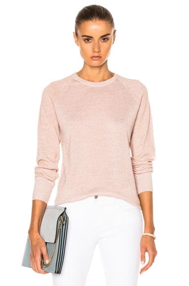 Equipment Sloane Sweater in Ivory & Pink Lurex