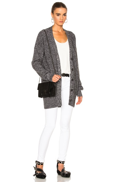 Equipment Gia Sweater in Charcoal & Ivory