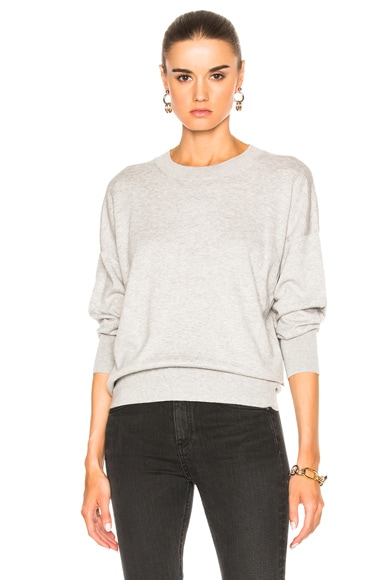 Equipment Melanie Crew Sweater in Light Heather Gray