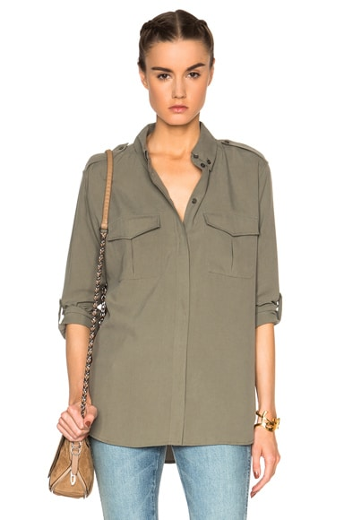 Equipment Major Top in Dusty Olive