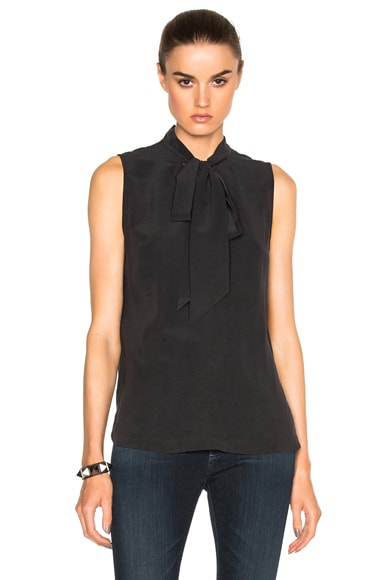 Equipment Poppy Top in True Black