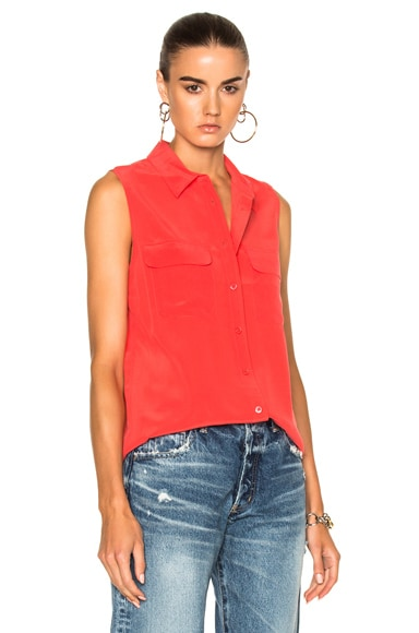 Sleeveless Slim Signature Top