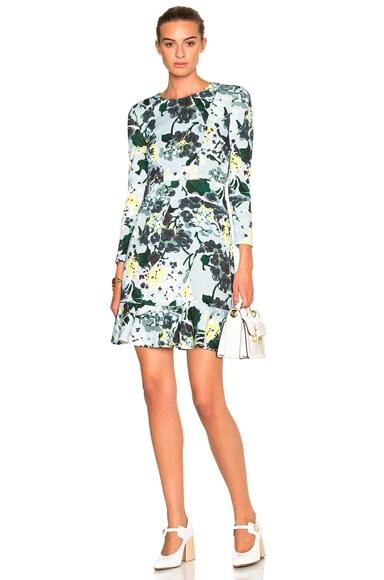 Erdem Judy Dress in Light Blue & Multi