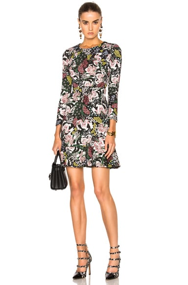 Erdem Dietrich Garden Judy Dress in Pink & Black
