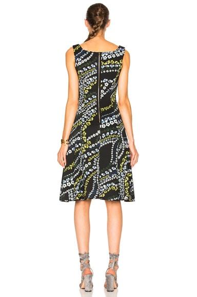 Tate Suzu Swirl Neoprene Jersey Dress
