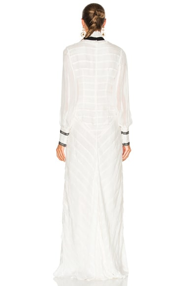 FWRD EXCLUSIVE Hollie Ripped Silk Voile Dress